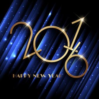 Sparkly anno nuovo sfondo blu