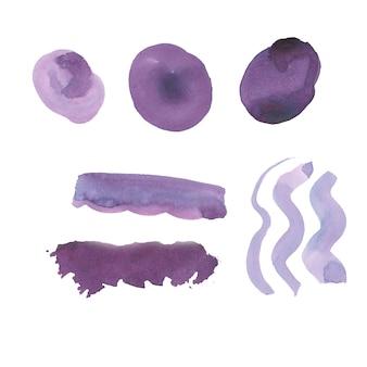 Spazzola viola colpi collezione