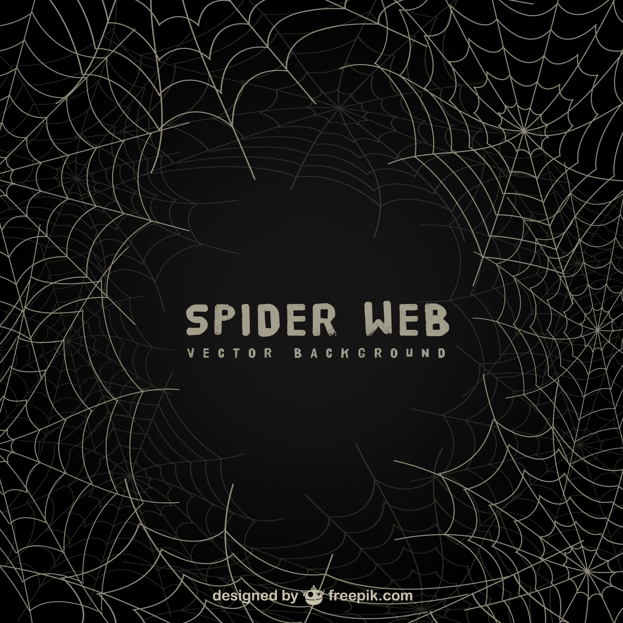 Spider web background sulla lavagna