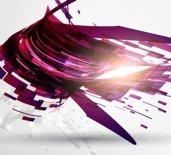 Splatter web astratta virtuale