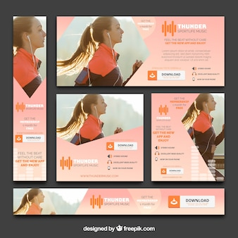 Sport e app banner per app