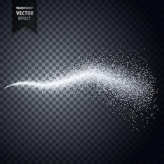 Spruzzo d'acqua di atomizzatore o polvere di polvere particelle trasparenti