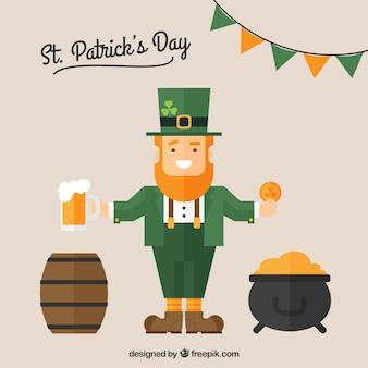St Patrick scheda con un folletto