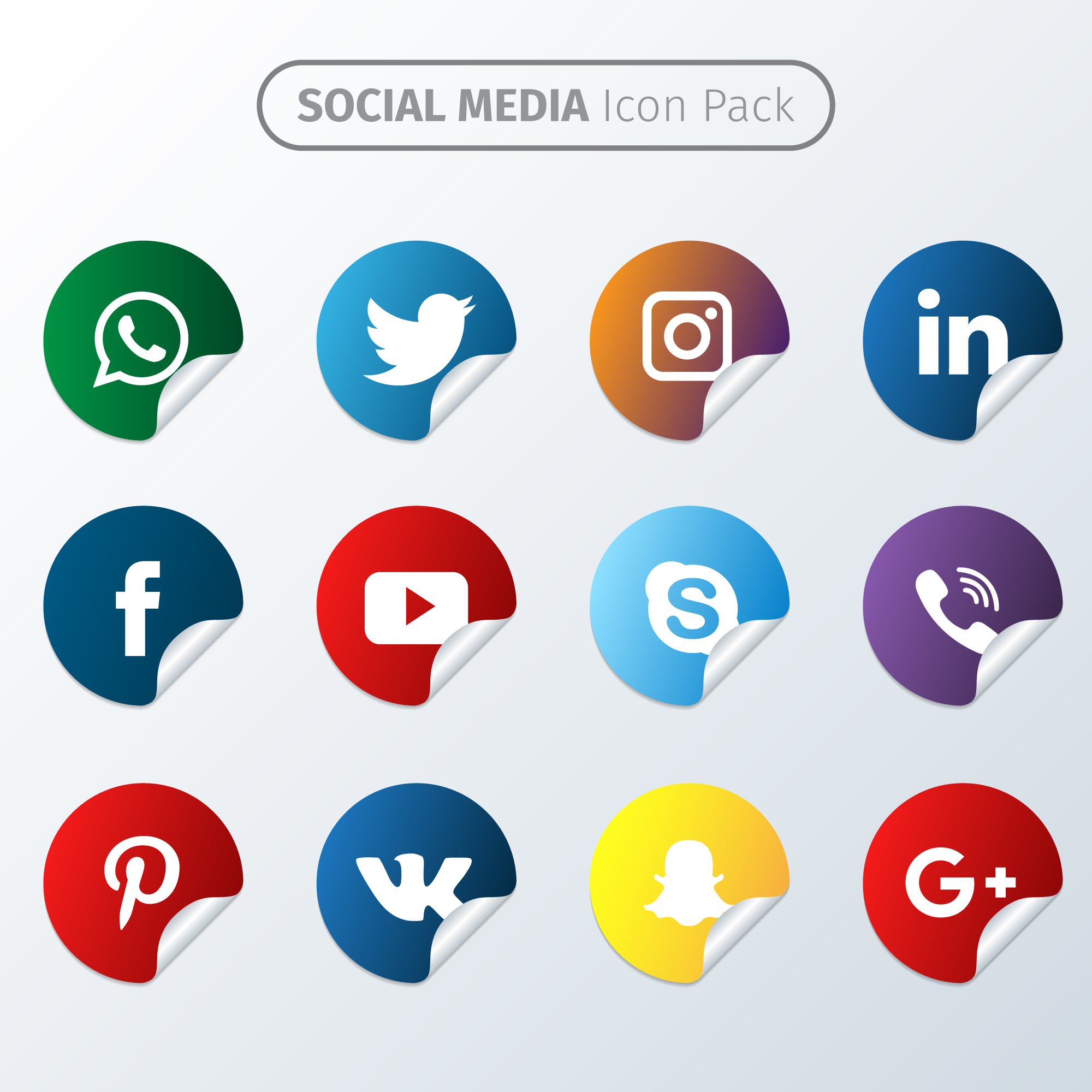Sticker icon pack social media
