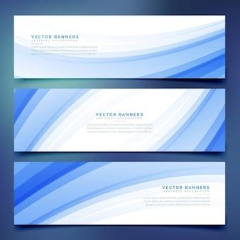 Stile aziendale banner blu onda impostate