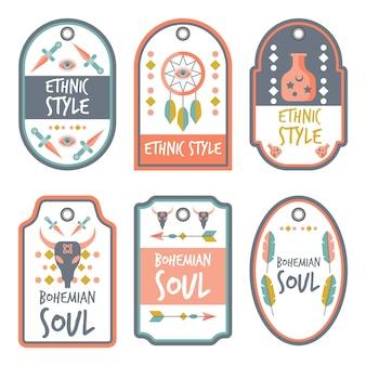 Stile Boho con Collezione Badge Tipografica