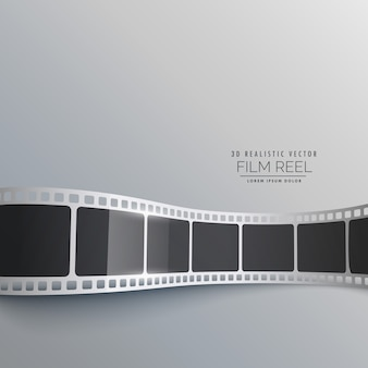 Striscia di pellicola 3d sfondo disegno vettoriale