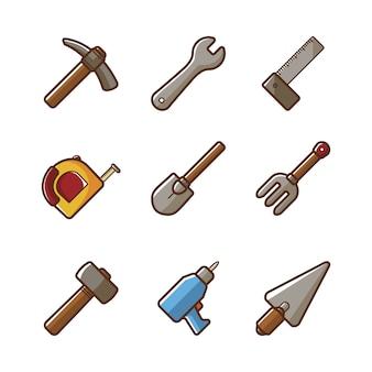 Strumenti collezione di icone