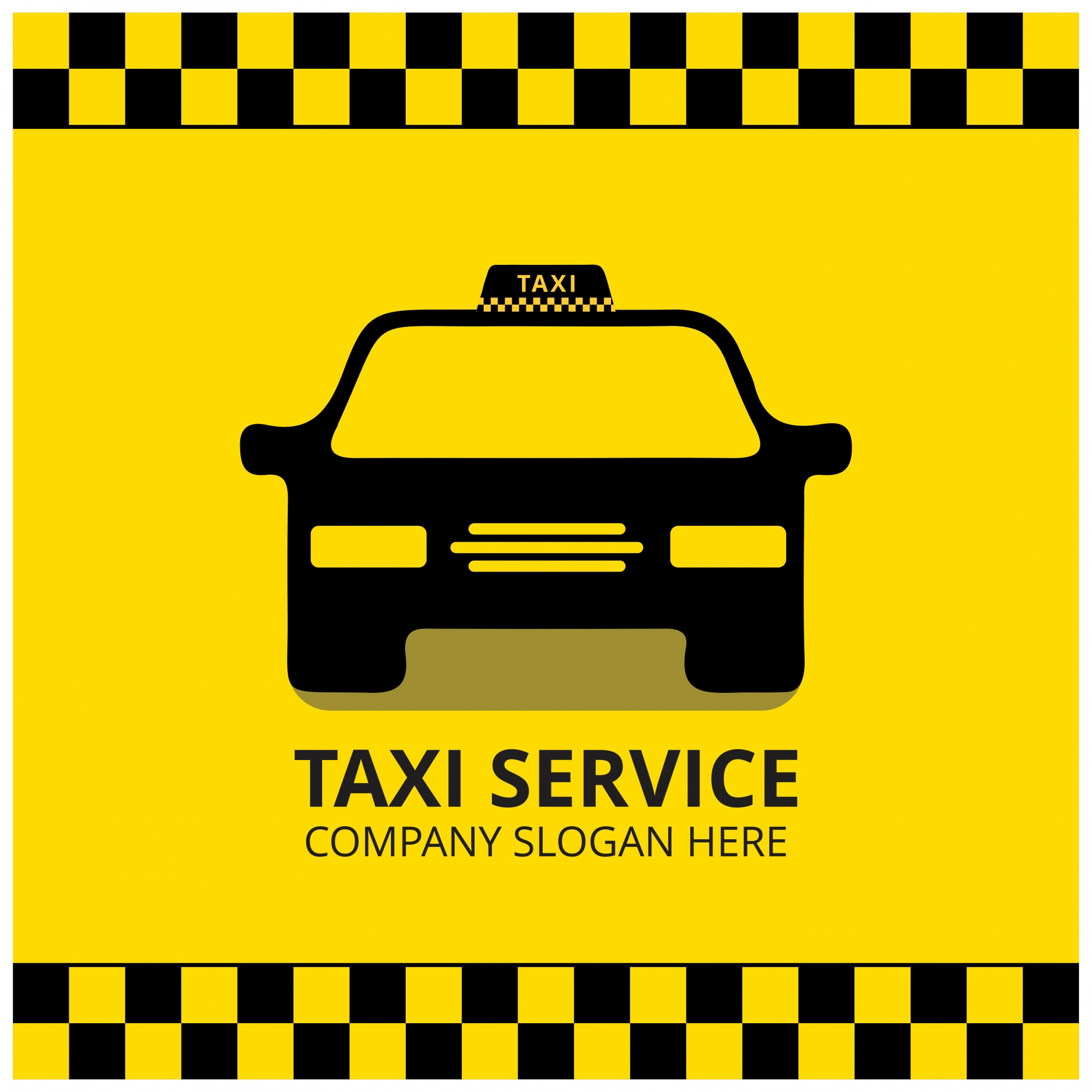 Taxi Icon Taxi Taxi Black Taxi Car Sfondo Giallo