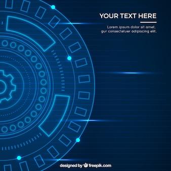 Tecnologia astratta sfondo circolare