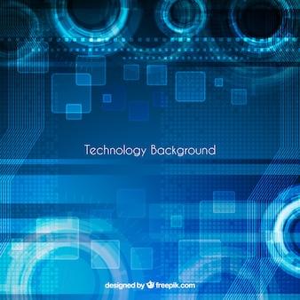 Tecnologia sfondo blu con forme astratte