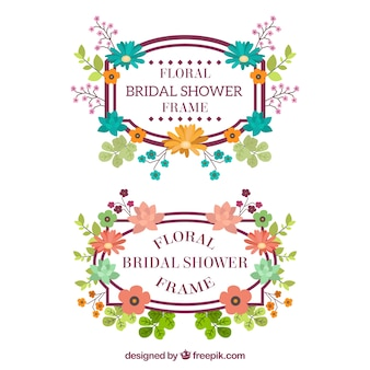 Telai di nozze fantastico con fiori colorati