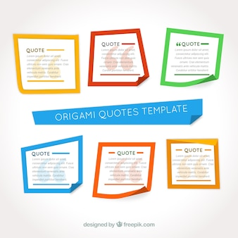 Telai origami colorati
