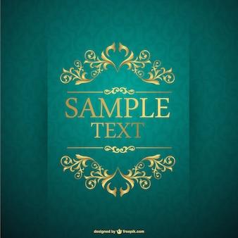Telaio vettoriale vintage template gratuiti