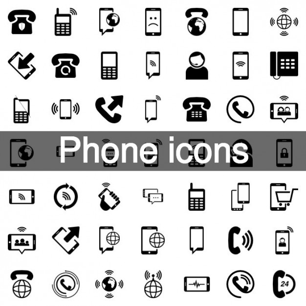 Telefono mobile icon set
