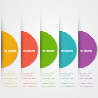 Template di circoli Abstact. Icona di colore. Vettore.
