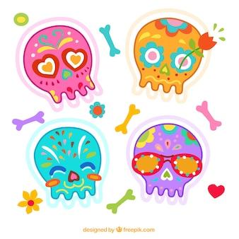 Teschi colorati messicani