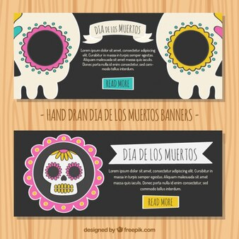 Teschi messicani striscioni decorativi