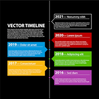 Timeline vettoriale infografica