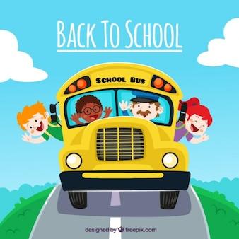 Torna a scuola divertente cartone animato
