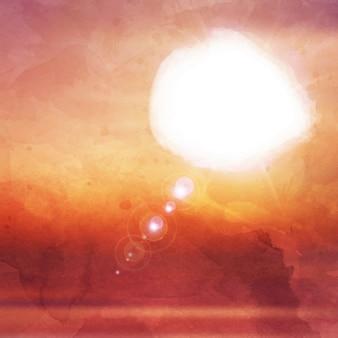tramonto sfondo astratto con effetto acquerello