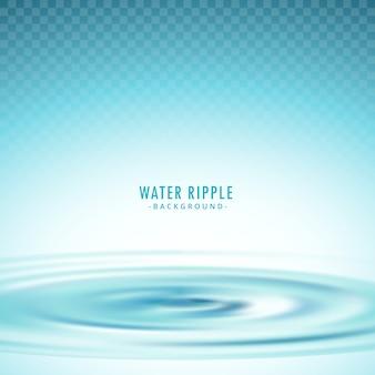Trasparente acqua ripple sfondo vettoriale