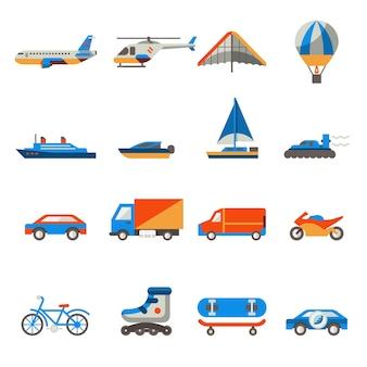 Trasporti collezione di icone