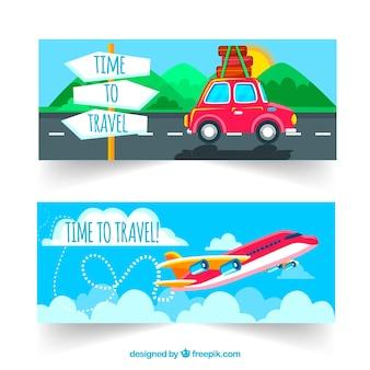 Trasporti e bandiere di viaggio