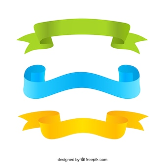 Tre nastri colorati