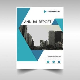 Triangolo blu copertura relazione annuale