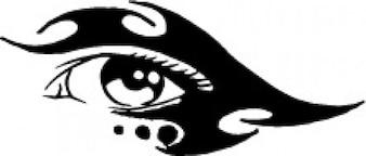 Tribale occhio femminile