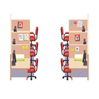 Ufficio vuoto ufficio cubicolo ufficio spazio interno