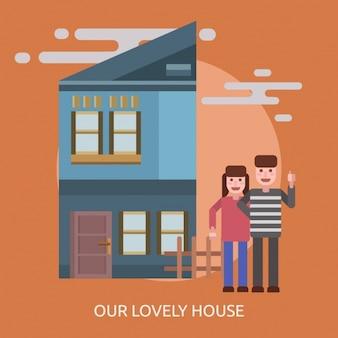 Una coppia in una casa