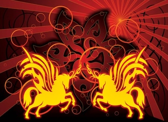 unicorni tatuaggio tribale