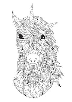 Unicorno disegnato a mano