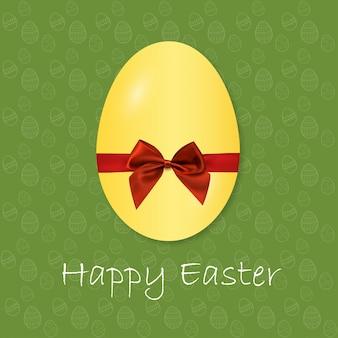 Uova di Pasqua icone Vector illustration Uova di Pasqua per le vacanze di Pasqua di progettazione su sfondo verde