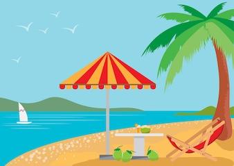 Vacanze estive sulla spiaggia.