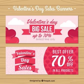Valentino banner di vendita di giorno pacchetto