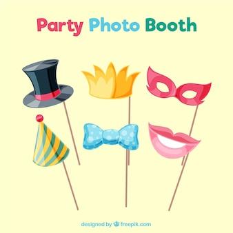 Vari accessori festa per photoboth
