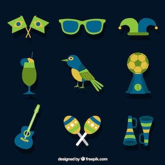 Varietà di accessori di carnevale brasiliano