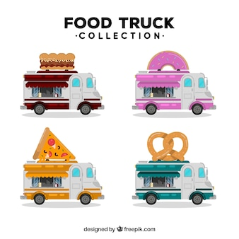 Varietà di carrelli alimentari colorati