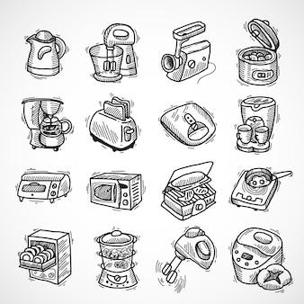 Varietà di elettrodomestici di design