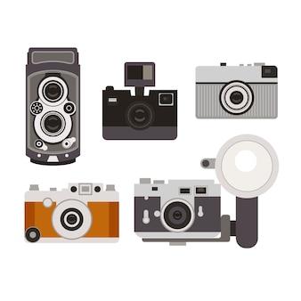 Vecchia collezione di telecamere