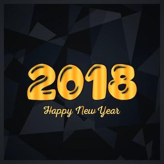 Vector 2018 Felice Anno Nuovo d'oro incandescente