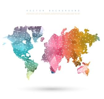 Vector Astratto Telecomunicazione Mappa della Terra.