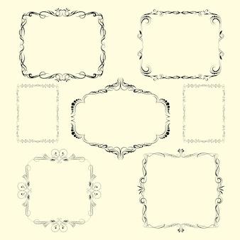 Vector Bordi ornamentali design e angoli.