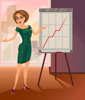 Vector donna d'affari