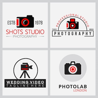 Vector icone nere e rosse per i fotografi 4
