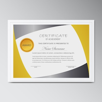Vector modello di certificato