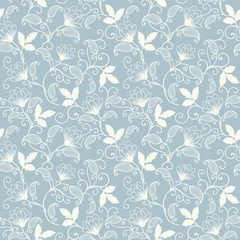 Vector sfondo floreale senza soluzione di continuità. Struttura elegante per gli sfondi. Ornamento floreale di lusso classico di lusso, texture senza soluzione di continuità per sfondi, tessile, confezione.